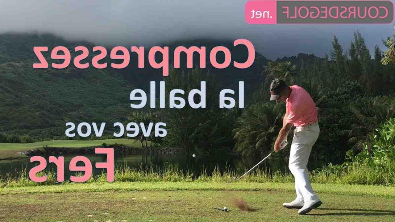 Comment jouez-vous votre fer de golf?